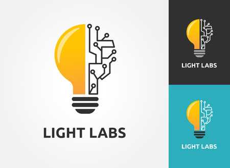 Light bulb - idea, creative, technology icons and elements Illusztráció