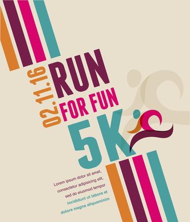 Uruchamianie maraton, ludzie uciekają, sport plakat