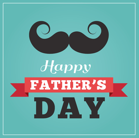 Happy fathers day vintage hipster greeting card