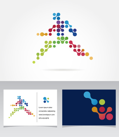 jogging: Running marathon, people run, colorful icon Illustration