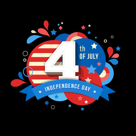 independent day: Happy independence day card United States of America, 4 th of July