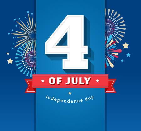 Gelukkige onafhankelijkheidsdag kaart Verenigde Staten van Amerika, 4 th van juli