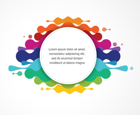 swill: abstract colorful background with text space