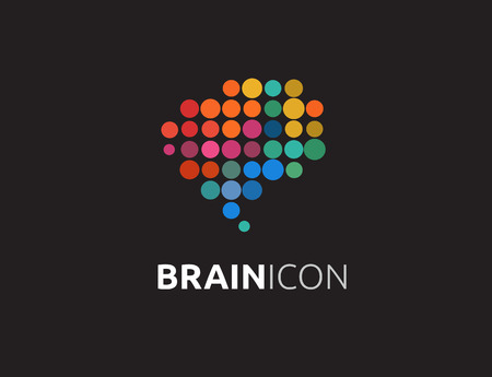 mind power: Brain, smart, Creative mind, learning and design icons. Man head, people colorful symbol