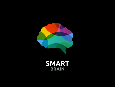 brain power: Brain, smart, Creative mind, learning and design icons. Man head, people colorful symbol