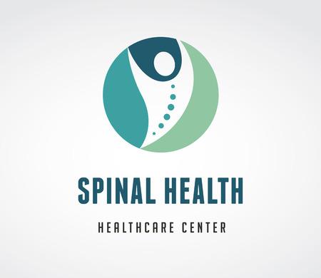medizin logo: Chiropraktik, Massage, Rückenschmerzen und Osteopathie Symbol