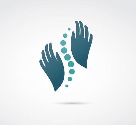 Chiropraktyka, masaż, ból pleców i osteopatii ikona