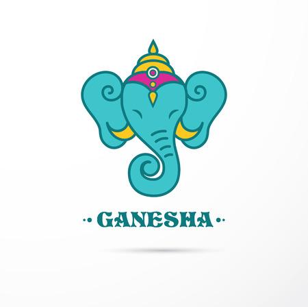 god's cow: India - Ganesha Indian icon and illustration Illustration