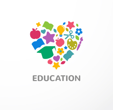 playgroup: Education, learning, student and school symbol, icon Illustration