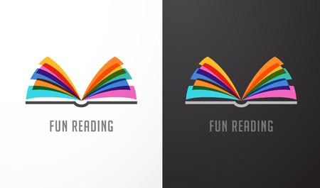 libro abierto: Abrir el libro - colorido concepto del icono de la educación, la creatividad, el aprendizaje