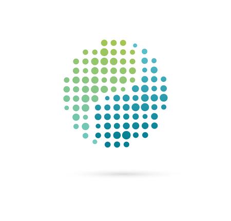 Alternative, Chinese medicine and wellness, yoga, zen meditation concept - vector yin yang icon, logo