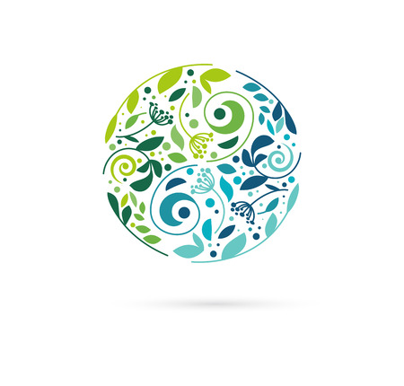 logo medicina: , La medicina alternativa china y el bienestar, el yoga, la meditación concepto zen - vector icono de yang del yin, logotipo