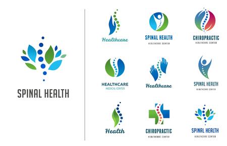 Chiropractie, massage, rugpijn en osteopathie iconen