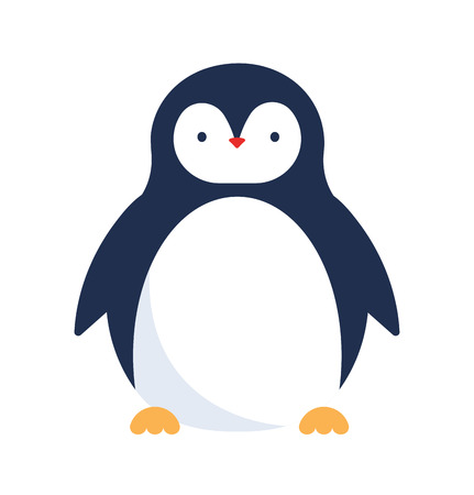 ice fishing: Cute penguin icon