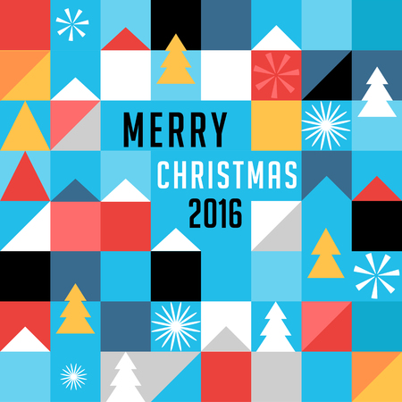theme: Merry Christmas, geometric abstract background, poster, theme and