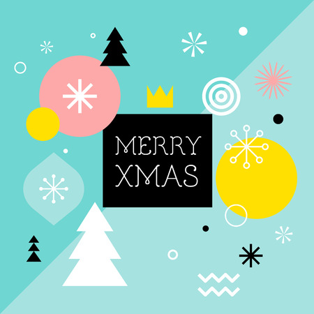 Merry Christmas, geometric abstract background, poster, theme and