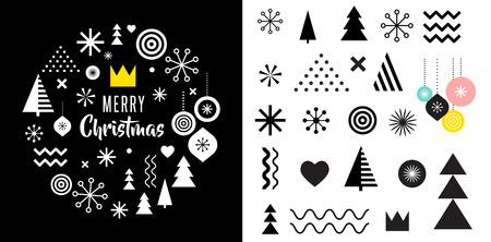 pastel colors: Feliz Navidad, fondo abstracto geométrico, cartel, el tema y