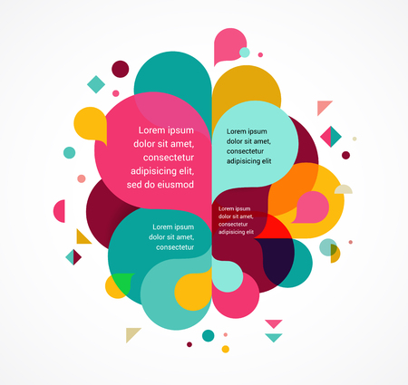Fondo abstracto de colores, el cartel, con salpicaduras de color arco iris, diseño del vector del concepto Ilustración de vector