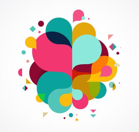 Colorful sfondo astratto, manifesto, con spruzzata di colore arcobaleno, il concetto di disegno vettoriale Archivio Fotografico - 71307605