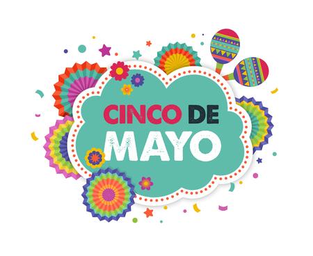 Cinco de mayo, banner messicano fiesta e disegno poster con bandiere, decorazioni, Archivio Fotografico - 74114986