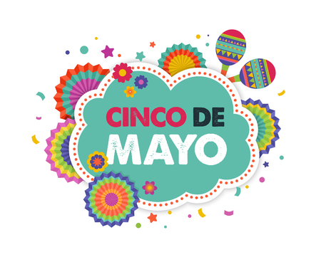 mayo: Cinco de mayo, Mexican fiesta banner and poster design with flags, decorations,