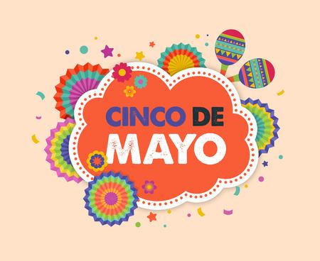 Cinco de Mayo, mexikanischer Fiesta-Banner und Poster-Design mit Flaggen, Dekorationen, Standard-Bild - 74106127