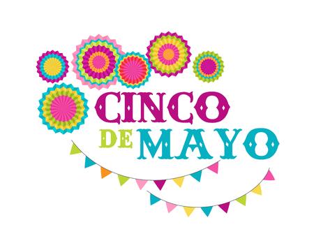 Cinco de Mayo, mexikanischer Fiesta-Banner und Poster-Design mit Flaggen, Dekorationen, Standard-Bild - 74115009
