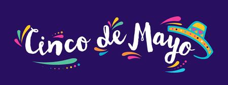 Cinco de Mayo, vacanza messicana, biglietto di auguri, poster e banner