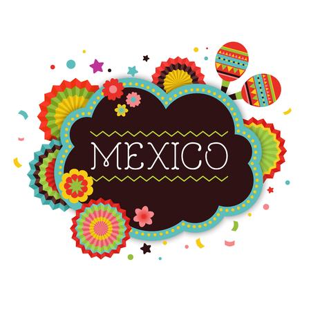 墨西哥遗民背景,横幅和海报设计与旗帜,装饰,贺卡