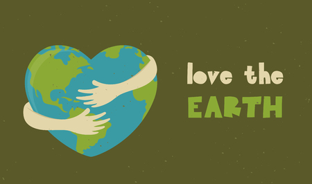 Happy Earth Day, World Environment Day design of poster, card and banner