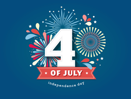 tagline: Happy Independence Day, American banners for 4th of July