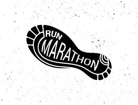 Run icon, symbol, marathon poster and logo Фото со стока - 81126704