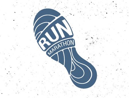 Icône de course, symbole, affiche marathon et logo Logo