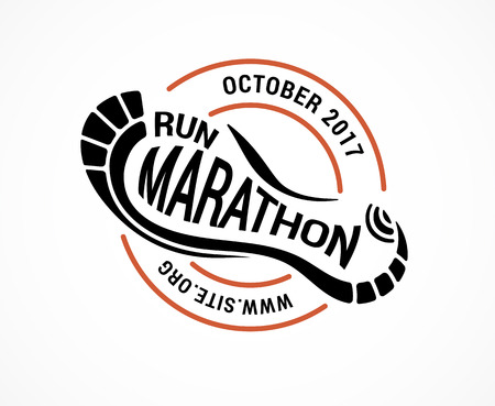 Run icon, symbol, marathon poster and logo
