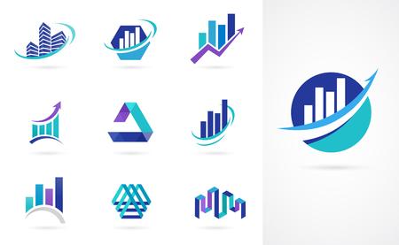 Marketing, finance, vente et logos d'entreprise Banque d'images - 81294267