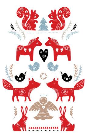 Conception de cartes de Noël. Banque d'images - 88242913