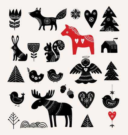 Diseño de tarjeta de Navidad.