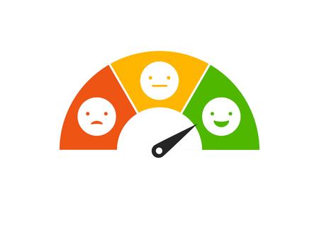 Feed-back-Konzeptdesign, Gefühle skalieren Hintergrund und Fahne