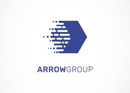 Technology, arrow, tech icon and symbol Illustration