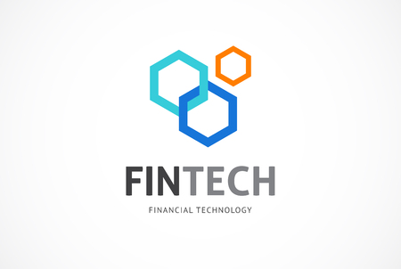 Modern logo innovative concept for fintech and digital finance industry Imagens - 91622881