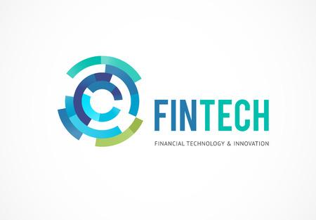 Modern logo concept for fintech and digital finance industry