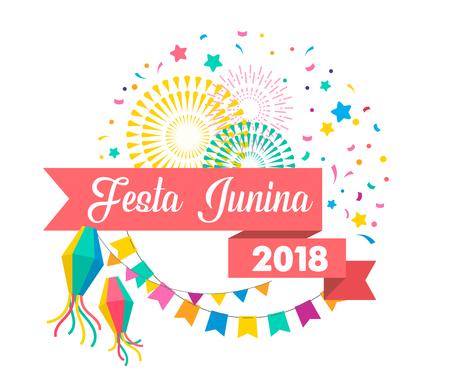 Festa Junina - Latin American, Brazilian June Festival, holiday poster