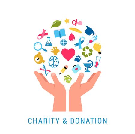 Szablon plakatu koncepcja miłości, dawania i darowizny