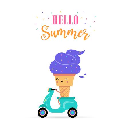 Ice cream character image illustration