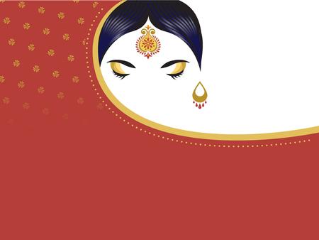 Inderin mit Saree. Schöner hinduistischer Mädchenhintergrund, Fahne Standard-Bild - 101096029