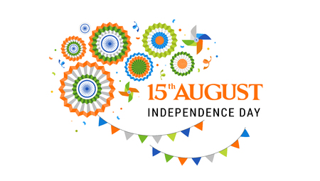 Indian holiday, Happy Independence Day celebration, poster and banner design