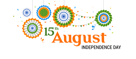 Indian holiday, Happy Independence Day celebration, poster and banner design Imagens - 104217168