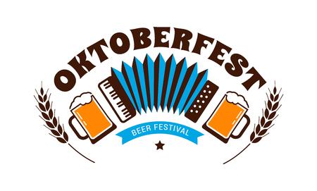 Oktoberfest flyer, banner. Beer festival logo, concept design