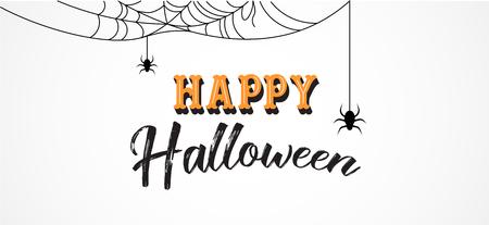 Happy Halloween background and banner. Vector design