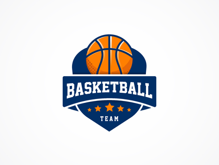 Basketball Logo, American sports vector symbol and icon